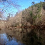 Image of Hiwassee River and preserved property in Polk County, TN.