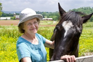 Photo of Gail with horse. Photo courtesy of Mark Lewis.