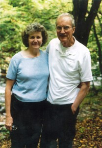 Gail with her late husband Jim. The Harris farm was purchased by Jim's grandfather back in the late 1800's.