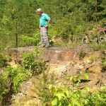 FLC Executive Director, Bill Clabough, during a site visit at the property.