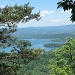 View of Lake Chatuge from high cliffs on a preserved property in Clay Co., NC.