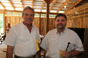 FLC Agr. Specialist, Gary Moore, with Dr. Robert Burns (Dean for UT Ext.)