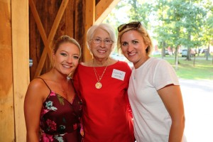RiverView Family Farm representatives (left to right), Erin, Janice Williams, and Rachel Samuleski.
