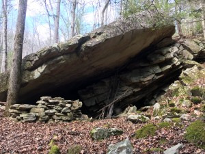 One of many interesting rock formations found on the property.
