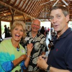 Nancy Thomas visiting with Burke Pinnell & Buckey Morris