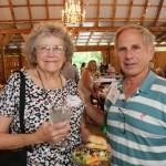 FLC Founding Member, Gail Harris, visits with longetime FLC Board Member, Billy Minser