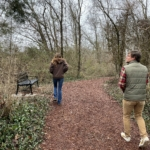 FLC Biologists Shelby Lyn Sanders and Matt Moore explore the trails at Jarvis Park